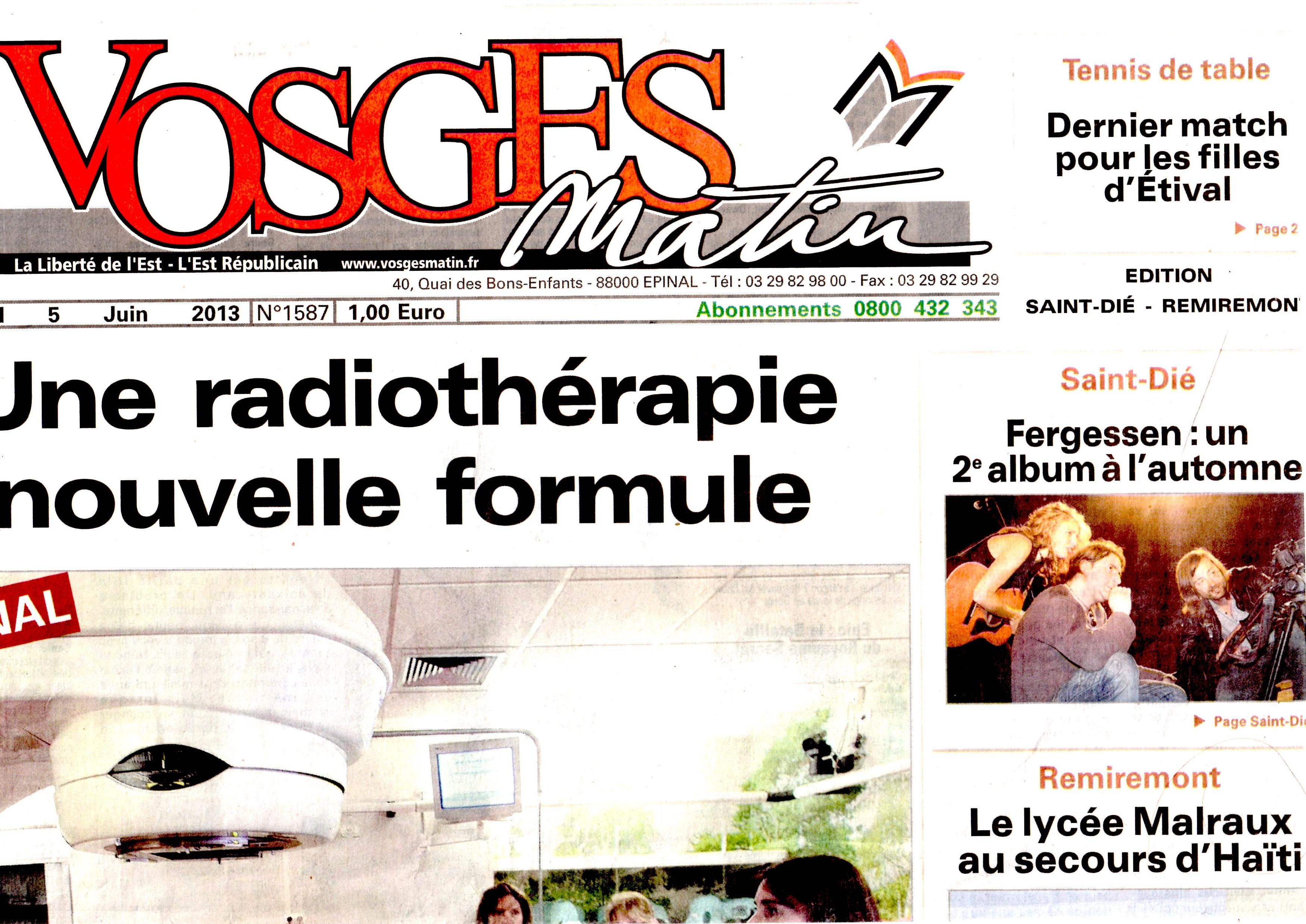 FERGESSEN - VOSGES MATIN - 5 juin 2013