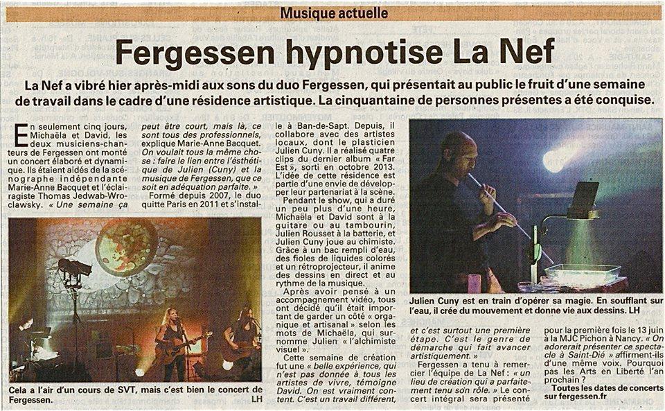 VOSGES MATIN - FERGESSEN - LA NEF - 10 mai 2014