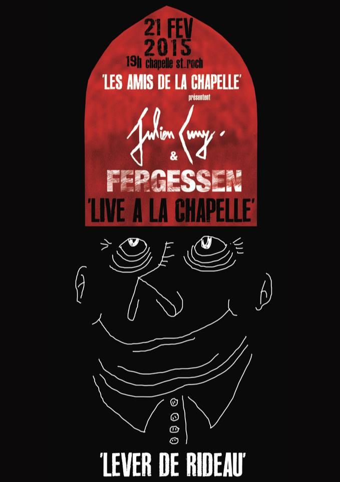 Affiche concert chapelle st-roch - FERGESSEN et JUL CUNY