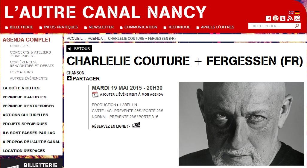 CHARLELIE COUTURE + FERGESSEN - Visuel L'Autre Canal - 2