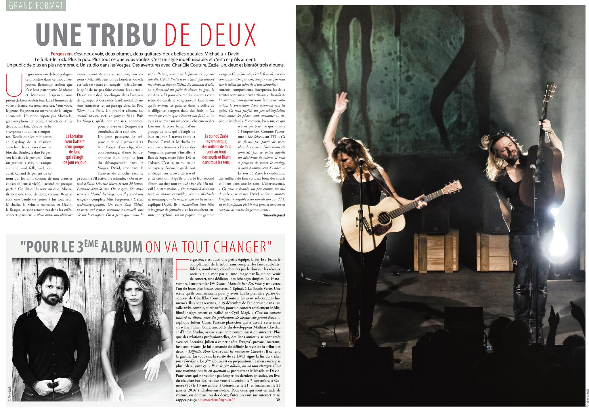ARTICLE L'ESTRADE - Vianney Huguenot - Novembre 2015