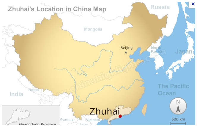 CARTE DE CHINE - ZHUHAI