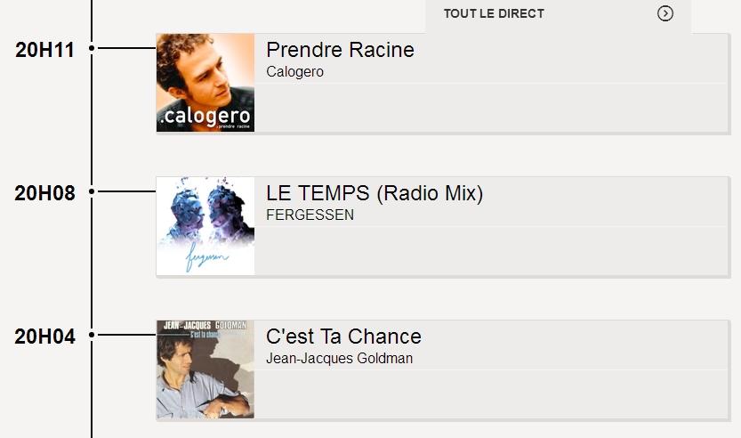 PLayliste RTL2 samedi 5 mars